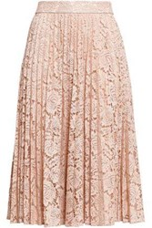 Kate Spade Ma Cherie Pleated Lace Skirt Blush