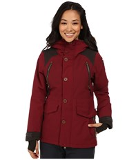 686 Parklan Ceremony Insulated Jacket Wine Peached Canvas Women's Coat Red