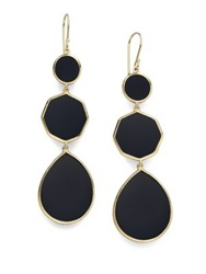Ippolita Polished Rock Candy Black Onyx And 18K Yellow Gold Crazy 8S Drop Earrings