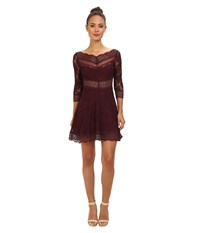 Free People Lacey Affair Dress Eggplant Women's Dress Purple
