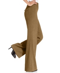 Style And Co. Stretch Wide Leg Pants Taupe