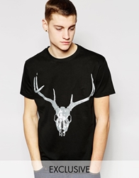 D Struct Stag T Shirt Black