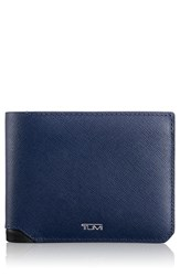 Tumi Men's 'Mason' Global Leather Wallet With Removable Passcase Blue Indigo