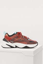Nike M2k Tekno Sneakers Mahogany Mink Black Burnt Orange