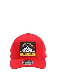 New Era North Face X Baseball Hat Red
