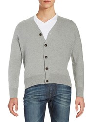 Brooks Brothers Cotton Cardigan Grey