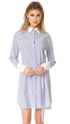 Rag And Bone Essex Shirtdress Blue Stripe