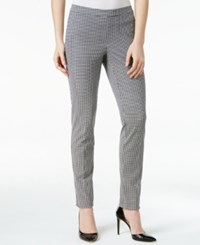 Alfani Houndstooth Pull On Skinny Pants Only At Macy's Ditsy Angles Black White