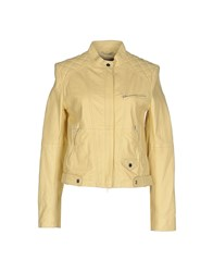 Stefanel Coats And Jackets Jackets Women Yellow