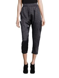 Eileen Fisher Printed Silk Harem Pants