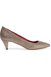 Etoile Isabel Marant Paloma Glittered Leather Pumps Metallic