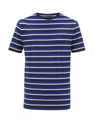 Ralph Lauren Purple Label Striped Cotton Jersey T Shirt Navy Multi