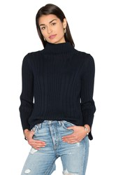 525 America Mock Neck Sweater Navy