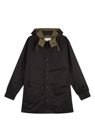 Marni Button Down Hooded Twill Jacket Black