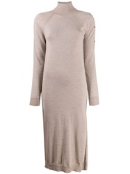Semicouture Knitted Mock Neck Dress 60