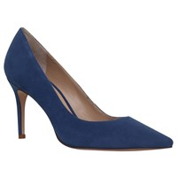 Kurt Geiger Eden High Heel Court Shoes Mid Blue Suede
