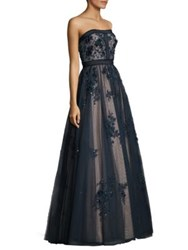 Basix Black Label Floral Bodycon Ball Gown Navy