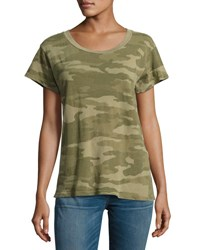 Current Elliott The Crewneck Camouflage Tee Green Green Pattern