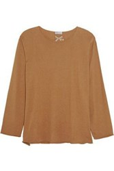 Red Valentino Cashmere And Silk Blend Sweater Tan