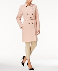 Charter Club Double Breasted Trench Coat Only At Macy's Dusted Nude