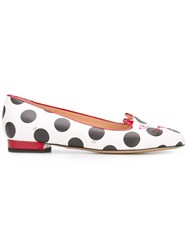 Charlotte Olympia Kitty Slippers White