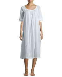 Celestine Annetin 3 4 Sleeve Long Nightgown Light Blue