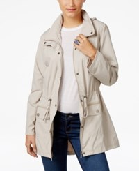 Style And Co Hooded Anorak Jacket Only At Macy's White Truffle
