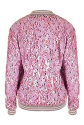 Pink Iridescent Sequin Bomber By Jaded London