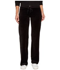 Juicy Couture Mar Vista Velour Pants Pitch Black Women's Casual Pants