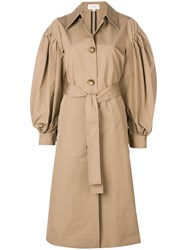 Isa Arfen Loose Oversized Trench Coat Nude And Neutrals