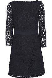 Tory Burch Renny Guipure Lace Dress Blue