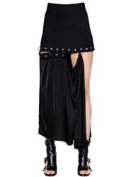 Damir Doma Cotton Denim Skirt W Removable Panel