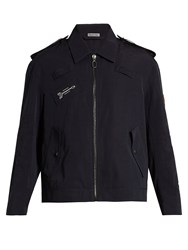 Lanvin Embroidered Faille Jacket Navy