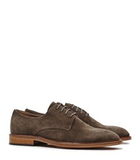 Reiss Amerson Mens Suede Derby Shoes In Brown
