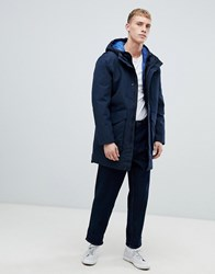 Selected Homme Waterproof Taped Seam Parka With Removable Puffer Jacket Dark Saphire Navy