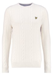 Lyle And Scott Jumper Ivory Off White
