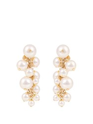 Lanvin Faux Pearl Cluster Drop Earrings