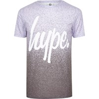 Hype Purple Speckle Print T Shirt