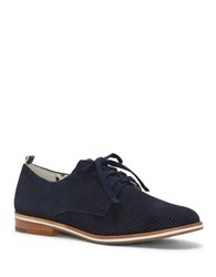 Ed Ellen Degeneres Larkin Perforated Lace Up Oxfords Grey
