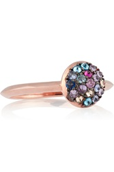 Katie Rowland Java 18 Karat Rose Gold Plated Crystal Ring Metallic