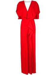 Roland Mouret Lorre Ss Gown Red
