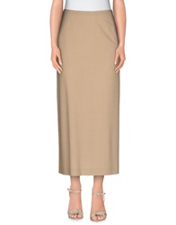 Piazza Sempione Long Skirts Beige