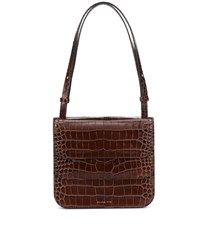 Rejina Pyo Ana Embossed Leather Tote Brown
