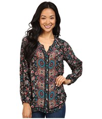Tolani Lyric Top Black Floral Women's Clothing Multi
