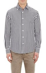 Mason's Striped Shirt Black