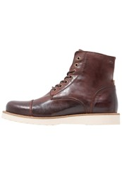 Jack And Jones Jfwmartin Laceup Boots Brown Stone Dark Brown