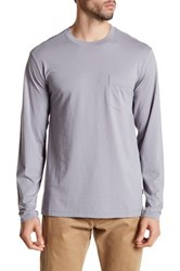 Tommy Bahama Bali Skyline Long Sleeve Pocket Tee Gray
