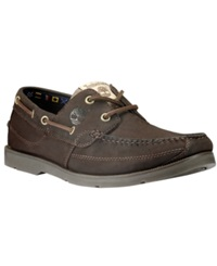 Timberland Earthkeepers Kia Wah Bay Boat Shoes Men's Shoes Chocolate Brown