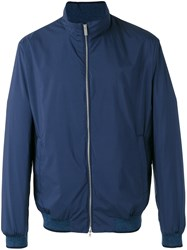 Paul And Shark Roll Neck Bomber Jacket Blue