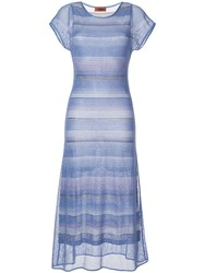 Missoni Long Knitted Dress Blue